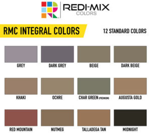RMC Integral Pigments for Concrete