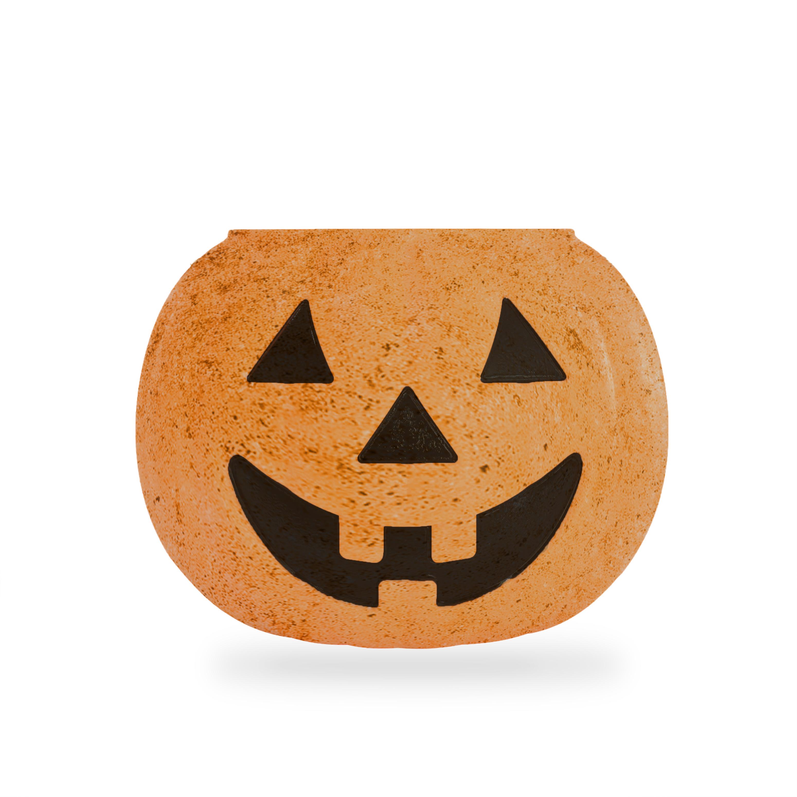 DIY Concrete Pumpkin Jack o Lantern