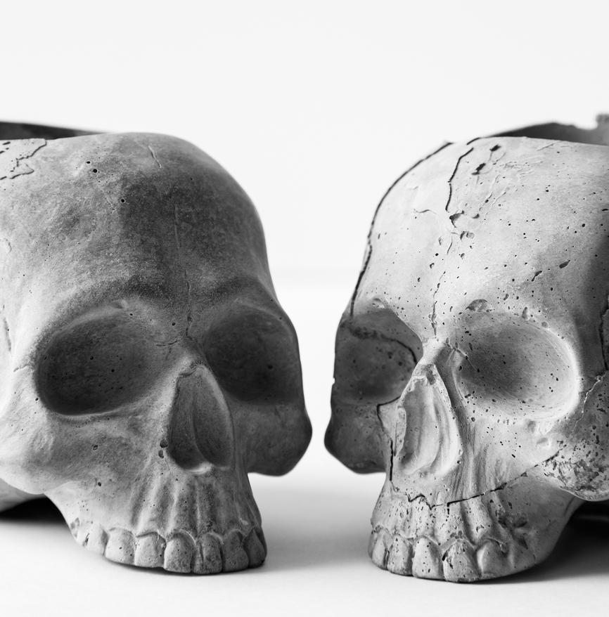 DIY Concrete Skulls