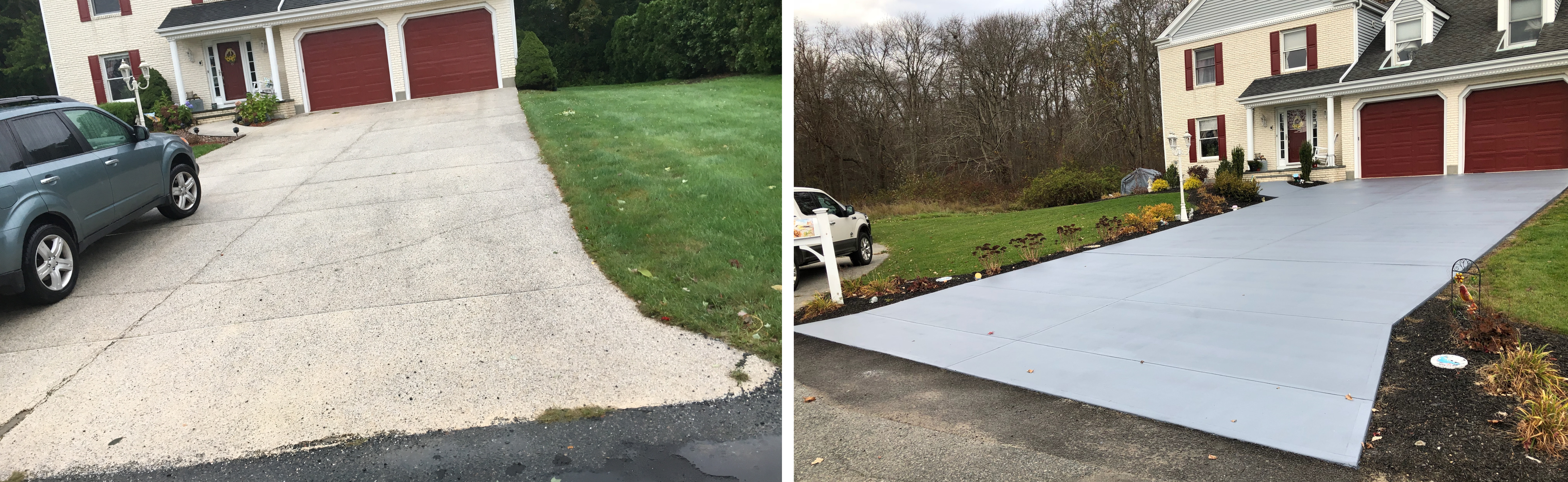Residential Driveway - Concrete Paint Protection